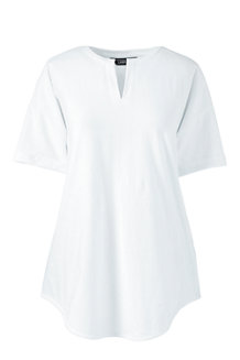 Women's Regular Short Sleeve V-neck Tunic