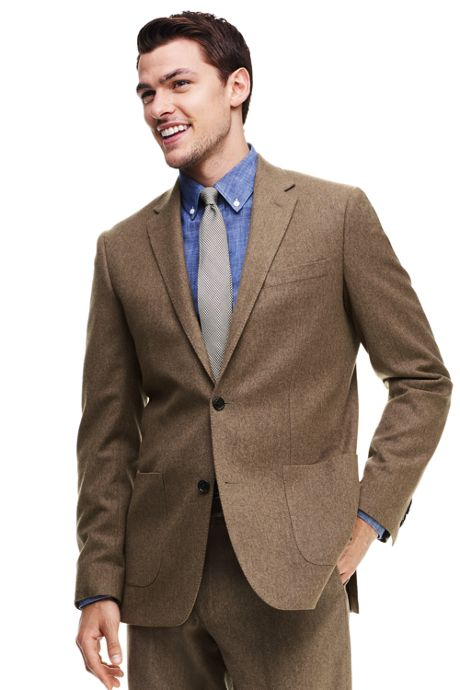 Men's Tailored Fit Wool Flannel Sportcoat