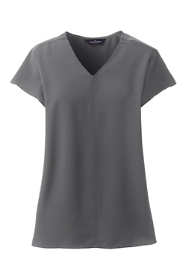 Women's Plus Hi Low V-Neck Soft Blouse