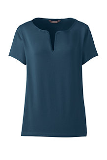 Women's Notch Neck Cotton/Modal Top