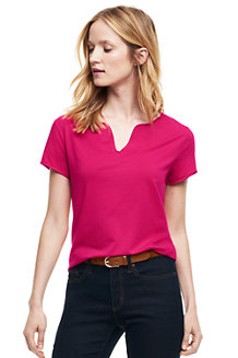 Women's Notch Neck Cotton/Modal Top