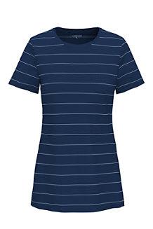 Le T-Shirt Rayé à Manches Courtes, Femme