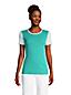Women's Stripe Cotton Rib Crew Neck T-shirt