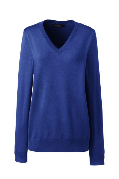 Women's Petite Performance V-neck Sweater