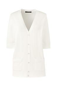 66a71b7ef6 Women s Plus Size Cotton Modal Half Sleeve V-neck Cardigan