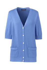 Women's Plus Cotton Modal Half Sleeve V-neck Cardigan