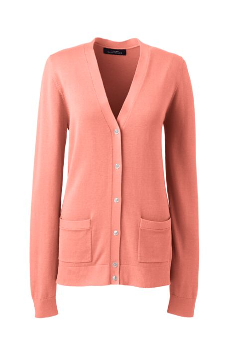 Women's Cotton Modal Long Sleeve V-neck Cardigan Sweater