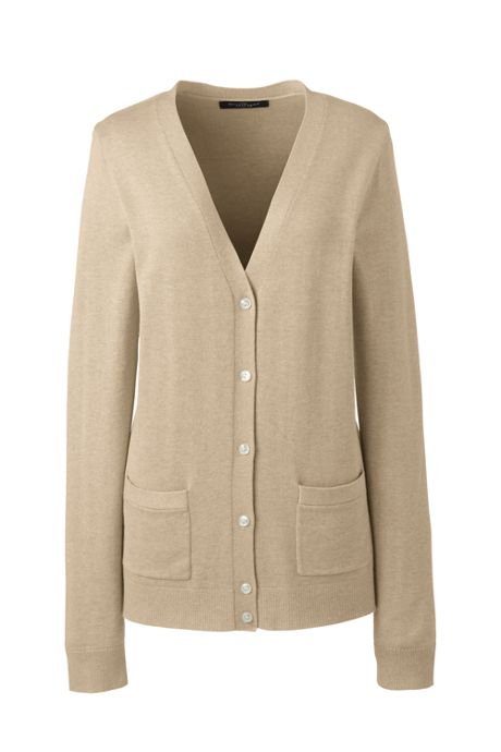 Women's Cotton Modal V-neck Cardigan Sweater
