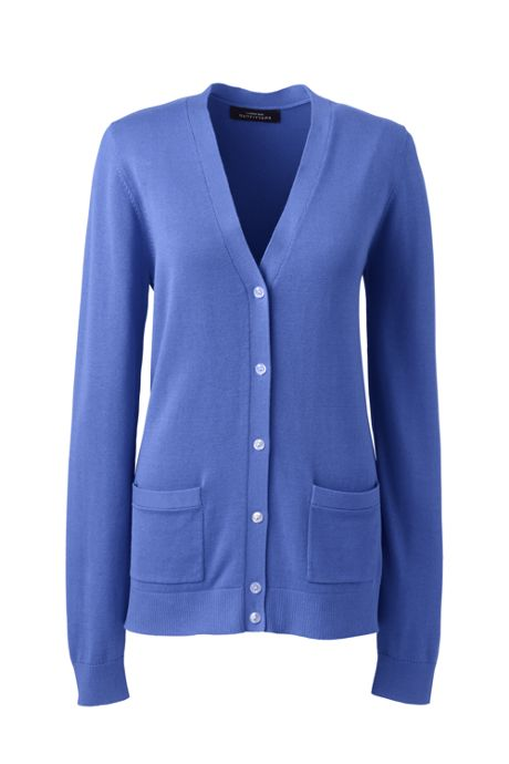 Women Plus Size Cotton Modal V-neck Cardigan Sweater