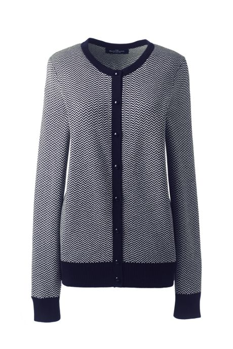 Women's Cotton Modal Pattern Cardigan