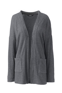 Women's Soft Leisure Ribbed Cardigan