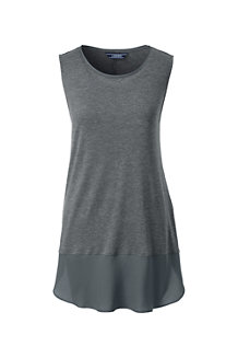 Women's Soft Leisure Sleeveless Viscose Tunic