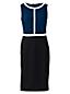 La Robe Fourreau Ponte Stretch Sans Manches Blocs de Couleurs, Femme Grande Taille