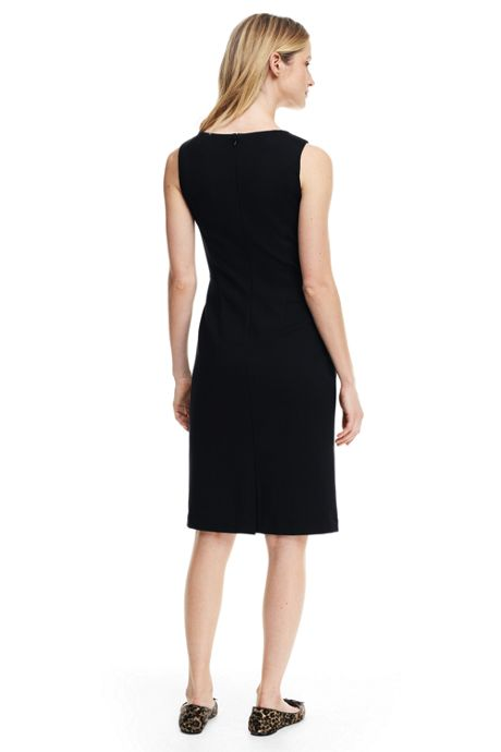 Women's Petite Sleeveless Ponte Sheath Dress