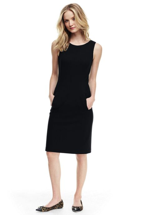 Women's Tall Sleeveless Ponte Sheath Dress