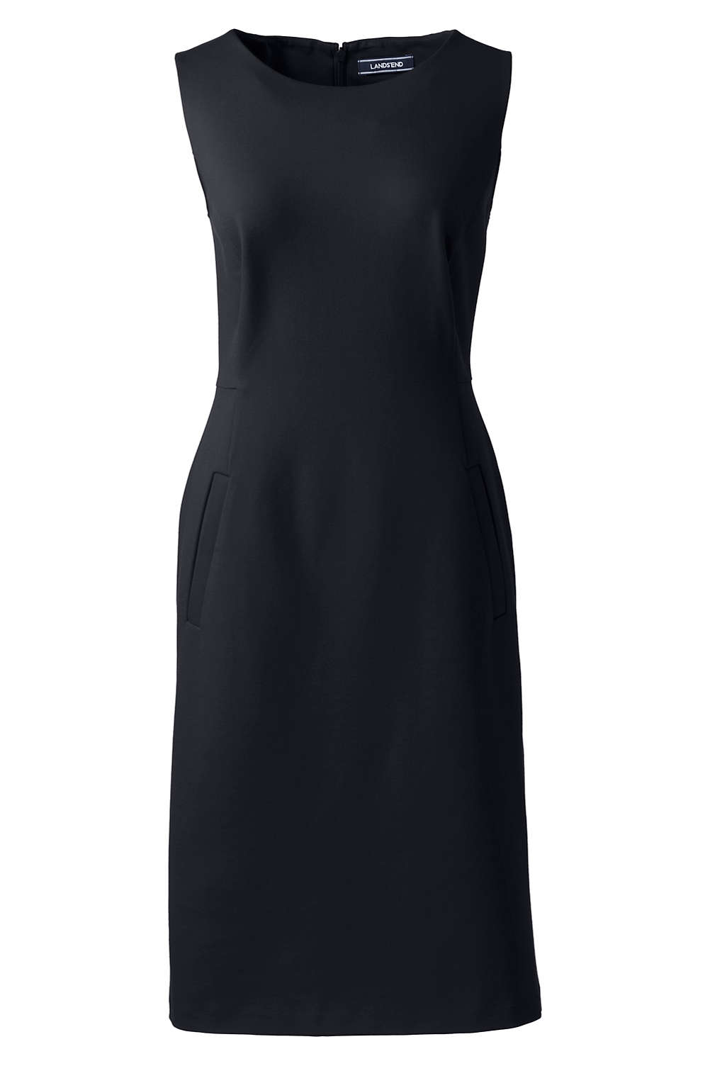 3befee01282 Women s Sleeveless Ponté Sheath Dress from Lands  End