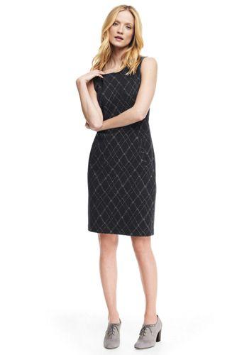 Women's Windowpane Check Ponte Dress