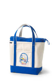 Lighthouse Embroidered Medium Zip Top Tote Bag