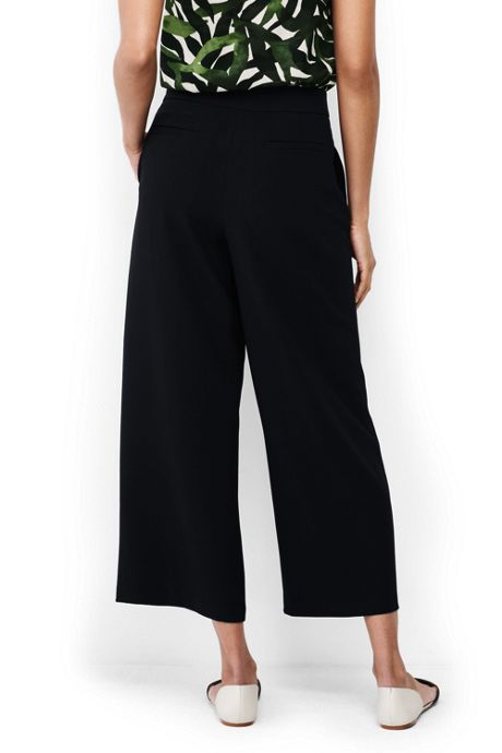 Women's Woven Crepe Crop Pants