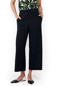 Women's Crepe Crop Trousers