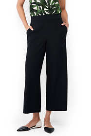 Women's Petite Woven Crepe Crop Pants