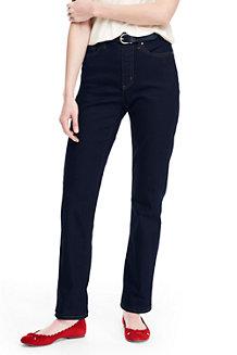Women's High Waisted Jeans, Straight Leg
