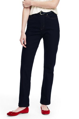 Taillenhohe Straight Denim-Jeans für Damen