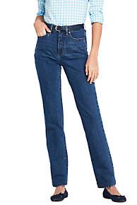 Really Wiki Cheap Online Womens True-Straight Gunmetal Grey Jeans - 10 30 - Grey Lands End HGXQhn