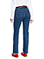 Women's High Rise Indigo Straight Leg Jeans