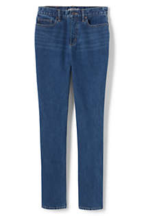 Women's Tall High Rise Straight Leg Classic Fit Blue Jeans, Front