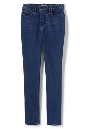 Straight Fit Jeans High Waist in Indigo für Damen