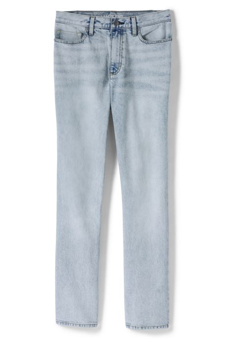 Women's Plus Size High Rise Straight Leg Jeans