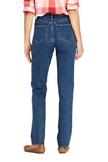 Women's Tall High Rise Straight Leg Classic Fit Blue Jeans, Back