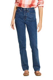 Women's High Rise Straight Leg Classic Fit Blue Jeans