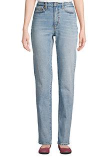 Women's High Waisted Straight Leg Jeans, Indigo