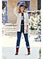 Le Jean Droit Taille Haute Stretch, Femme Stature Standard