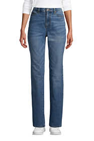 Women's Tall High Rise Straight Leg Classic Fit Blue Jeans