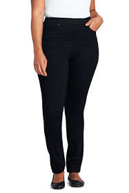 Women's Plus Size Mid Rise Pull On Skinny Jeans