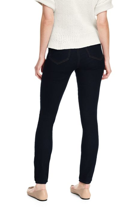 Women's Tall Mid Rise Pull On Skinny Jeans