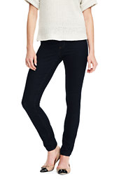 Mid Rise Pull On Skinny Jeans