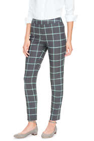 Women's Petite Mid Rise Doublecloth Pencil Pants