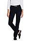 Le Jean Droit Noir Taille Mi-Haute Stretch, Femme Stature Standard