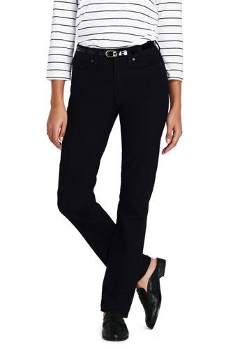 Women's True-Straight Black Jeans