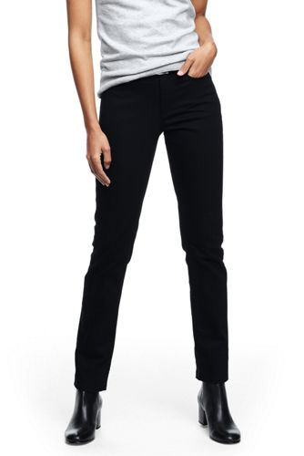 True-Straight Jeans in Schwarz für Damen