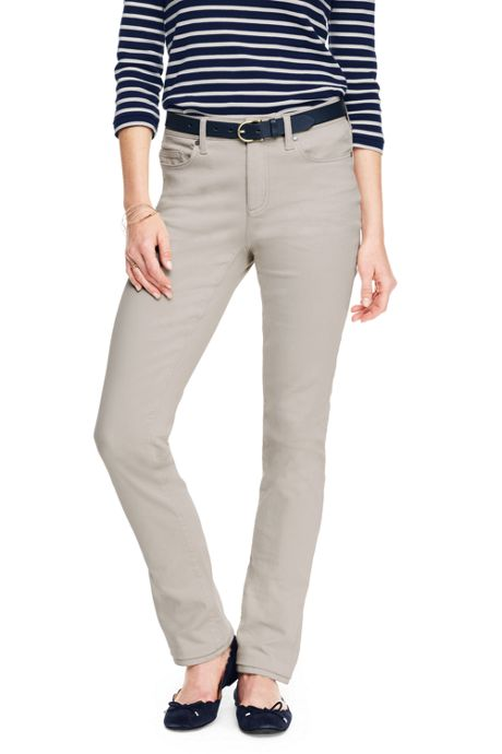 Women's Tall Mid Rise True Straight Leg Jeans