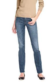 Women's Petite Mid Rise True Straight Leg Jeans