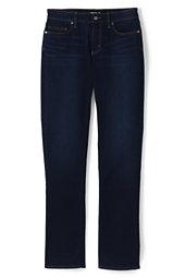 Mid Rise True Straight Leg Jeans