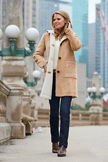 Le Jean Indigo Droit Taille Mi-Haute Stretch, Femme