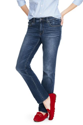 Le Jean Girlfriend Stretch Taille Rabaissée, Femme Stature Standard