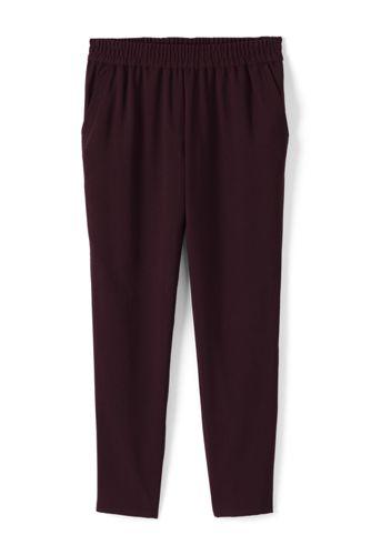Le Pantalon en Crêpe Style Jogging, Femme Stature Standard